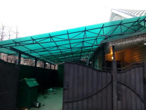 Навес из сотового поликарбоната ул. Красноармейская, 87 м²