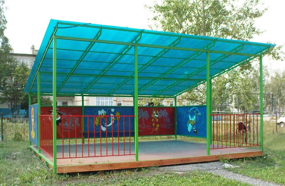 Теневые навесы для детского сада своими руками