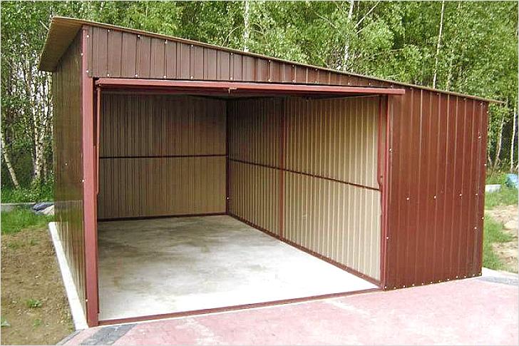 Делаем гараж из профлиста своими руками