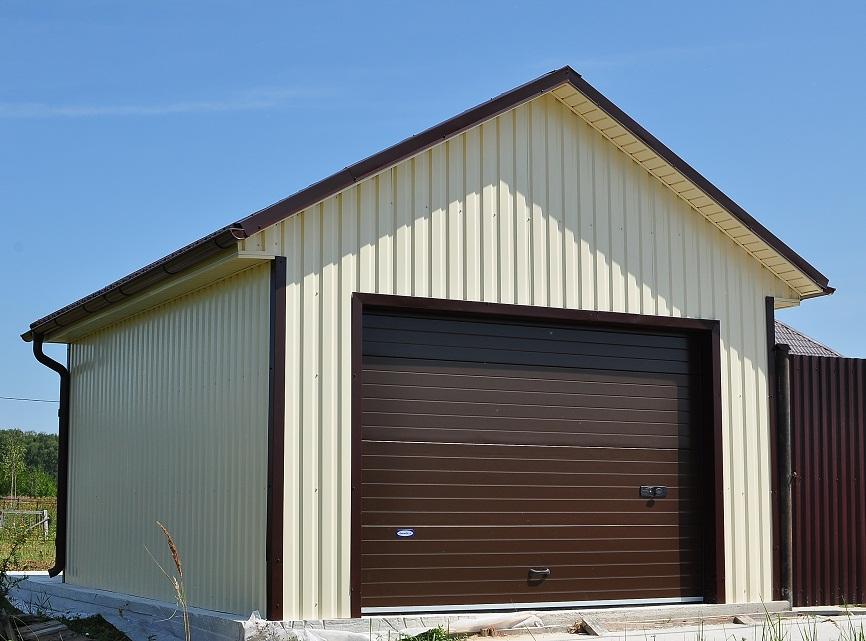 Строим гараж из профлиста своими руками