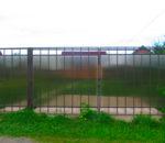 Забор из поликарбоната 4