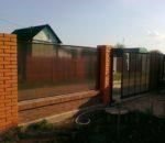 Забор из поликарбоната 5