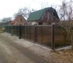 Забор из поликарбоната 6
