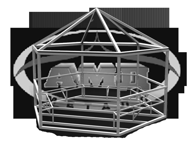 Беседка своими руками из металла шестигранная