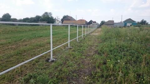 Забор из профнастила 252 метра, с. Чувашские Кищаки, Татарстан