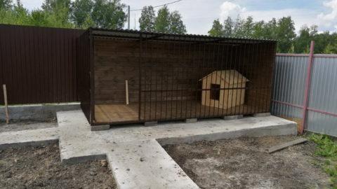 Вольер для собаки р.п. Ишеевка, 10м²